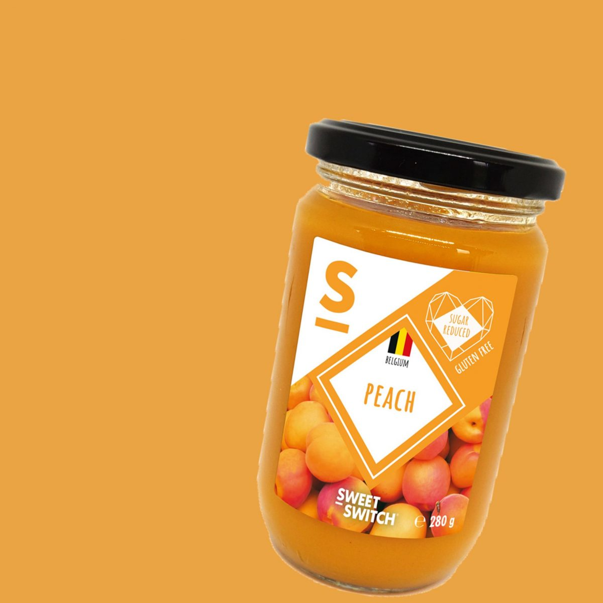 SWEET-SWITCH peach fruit spread