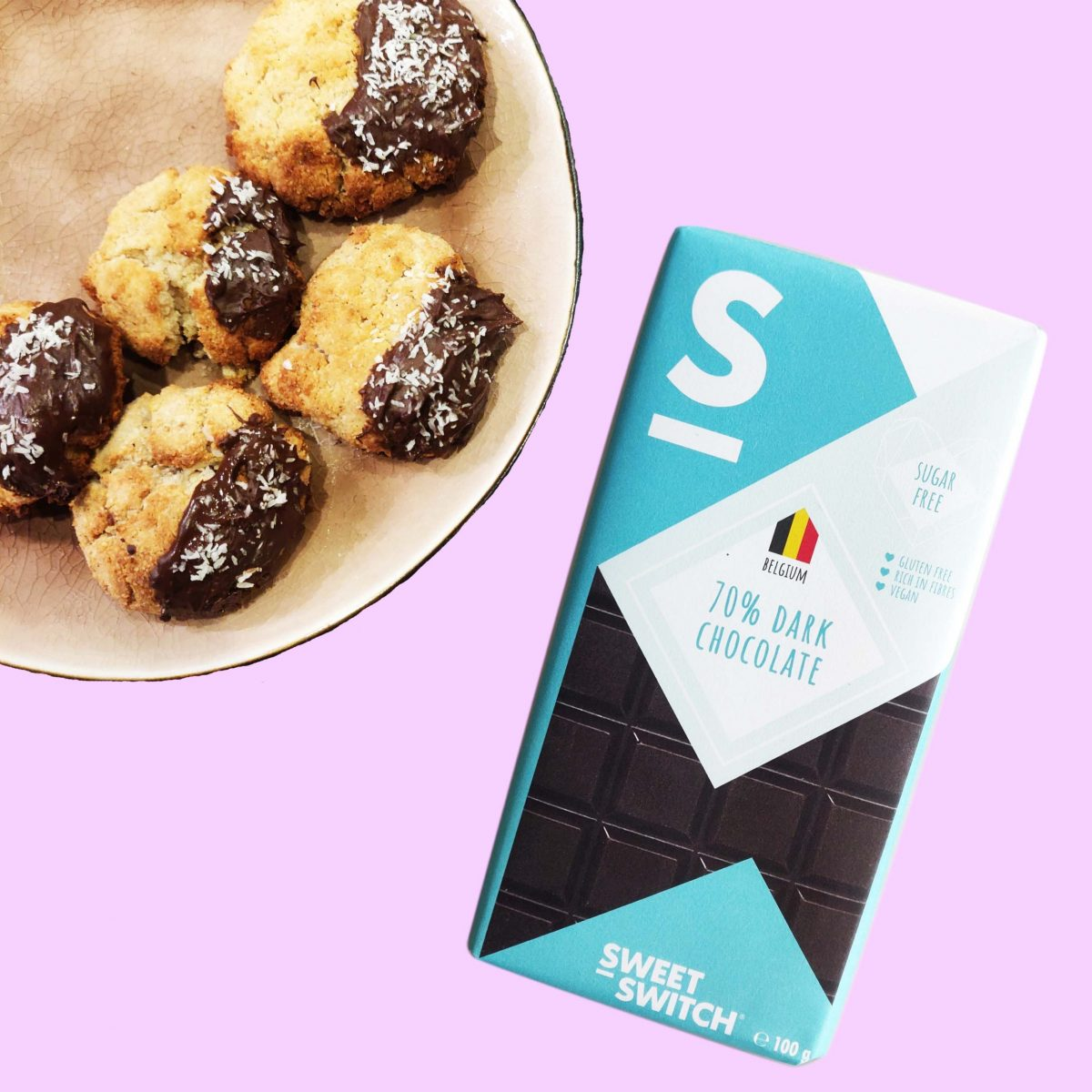 sugar free confectionery heaven SWEET-SWITCH 70% dark chocolate