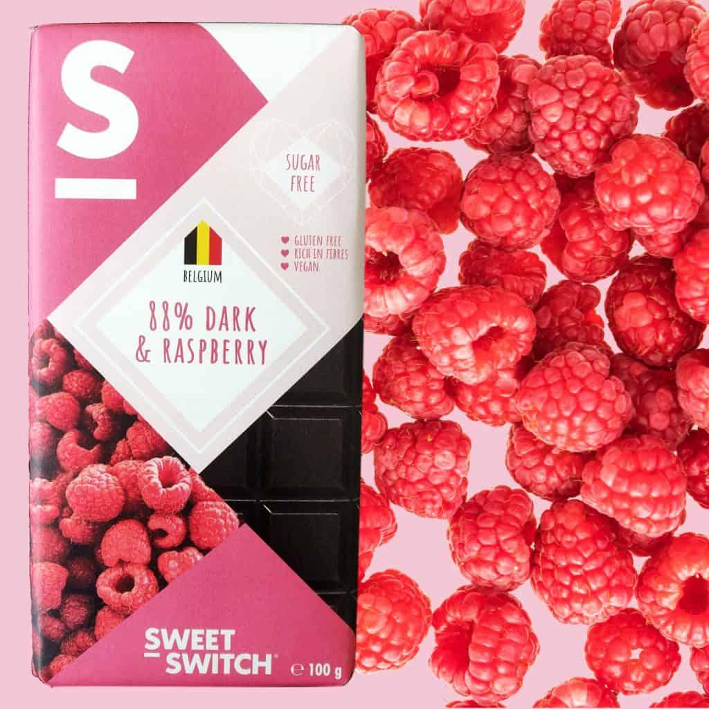 SWEET-SWITCH® 88% dark chocolate & raspberry