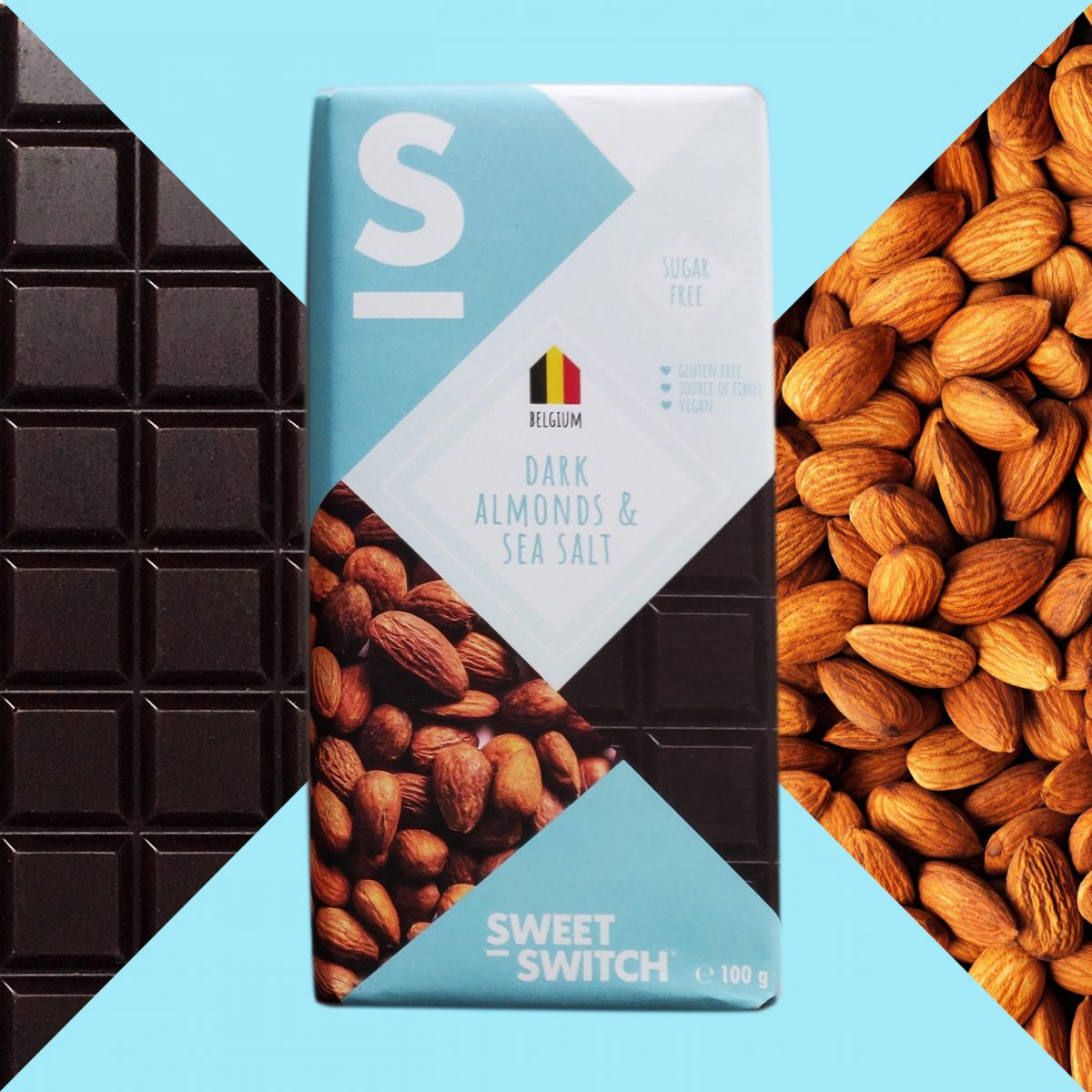 SWEET-SWITCH dark + almonds & sea salt