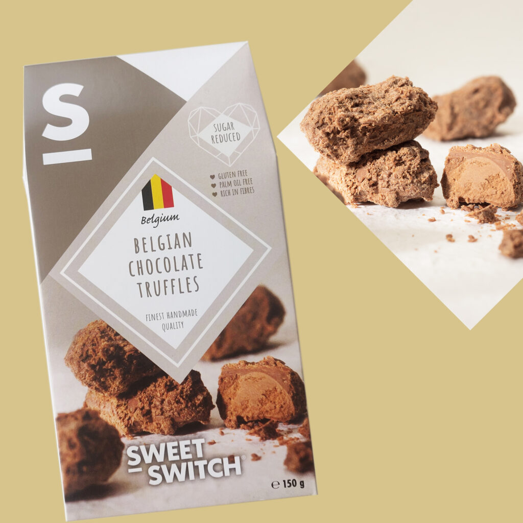 sugar free confectionery heaven SWEET-SWITCH Belgian Chocolate Truffles