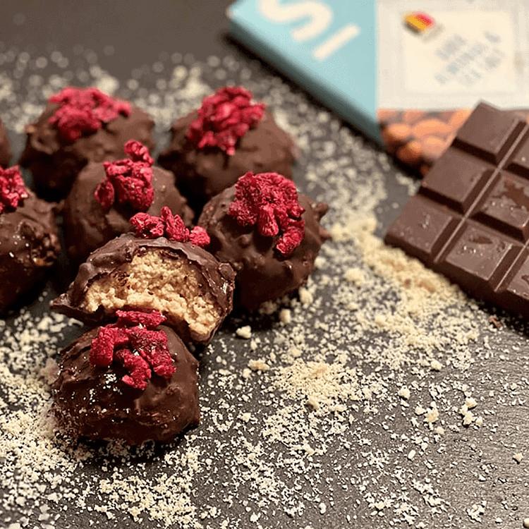 recettes & nouvelles Boules de châtaignes enrobées en chocolat de SWEET-SWITCH®