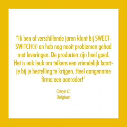 suikervrije gezonde confiserie Review SWEET-SWITCH